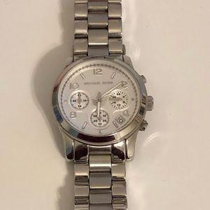 Michael Kors Runway Silver Watch